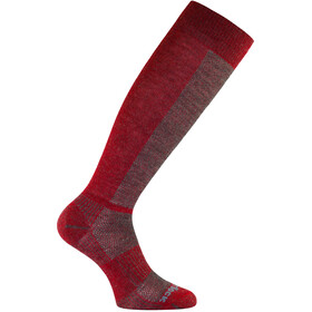 Wrightsock Coolmesh II Merino OTC Chaussettes, grey/fire-red